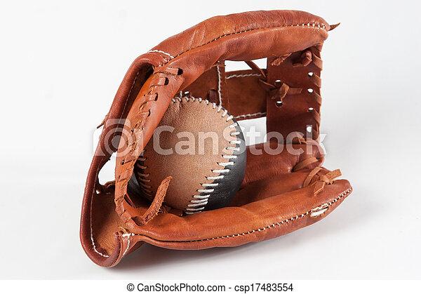 Baseball Glove with ball - csp17483554