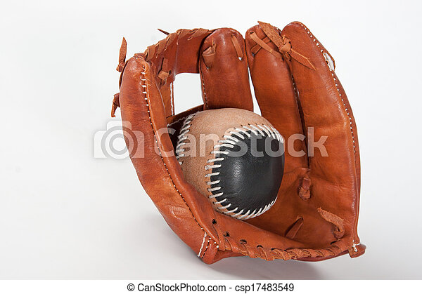 Baseball Glove with ball - csp17483549