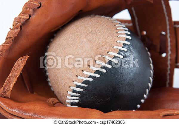 Baseball Glove with ball - csp17462306