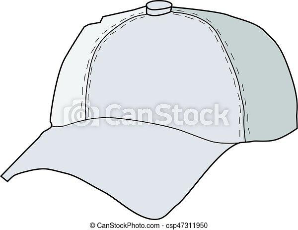 vector illustration of baseball hat clipart vector search rh canstockphoto com baseball hat silhouette vector baseball hat vector image