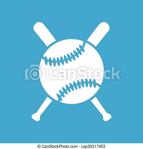 Baseball icon 2, simple - csp30317453