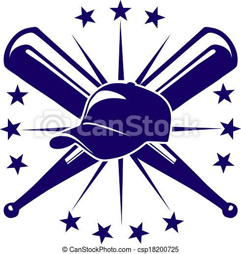 Baseball icon or emblem - csp18200725