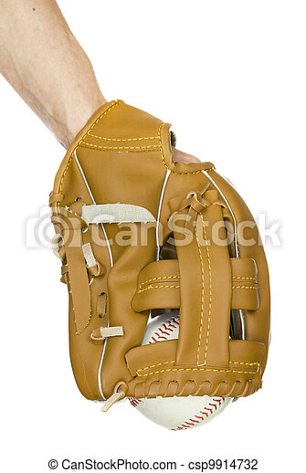 baseball in baseball glove - csp9914732