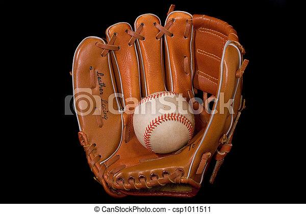 Baseball In Glove - csp1011511