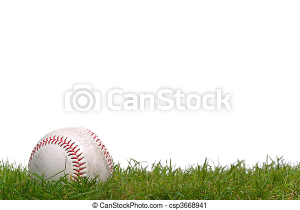 Baseball in the grass - csp3668941