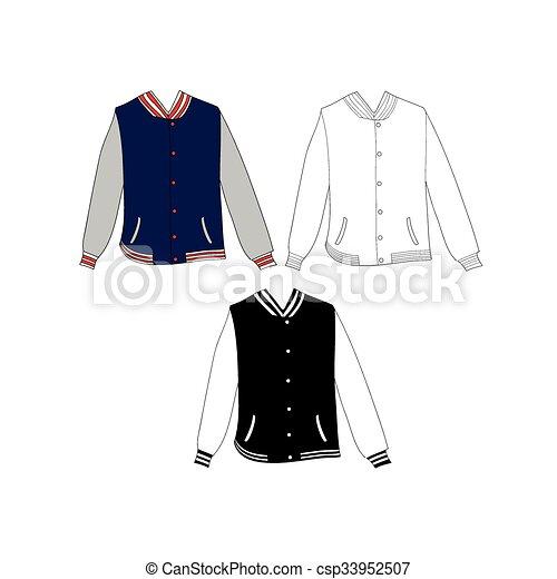 Varsity jacket template.