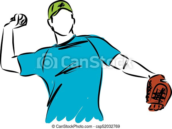 baseball man player vector illustration clip art vector search rh canstockphoto ca clipart baseball player template clipart basketball player