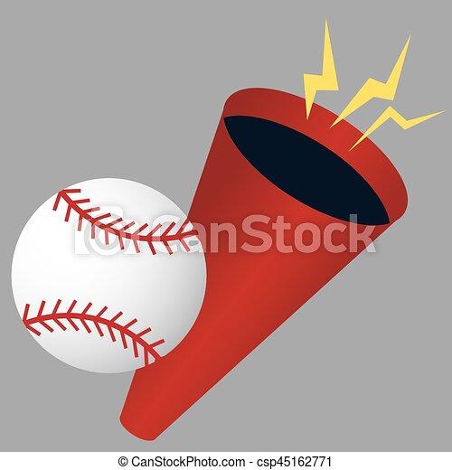 Baseball Megaphone - csp45162771