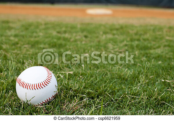 Baseball on Field - csp6621959