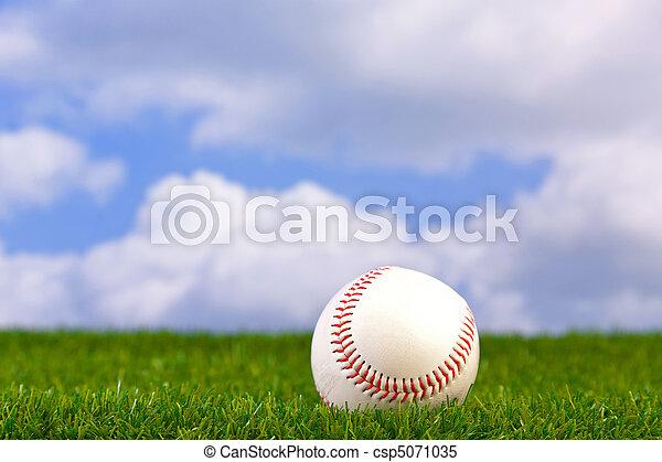 Baseball on grass - csp5071035