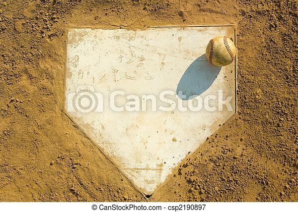 Baseball on Home - csp2190897