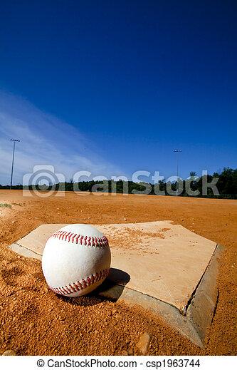 Baseball on Homeplate - csp1963744