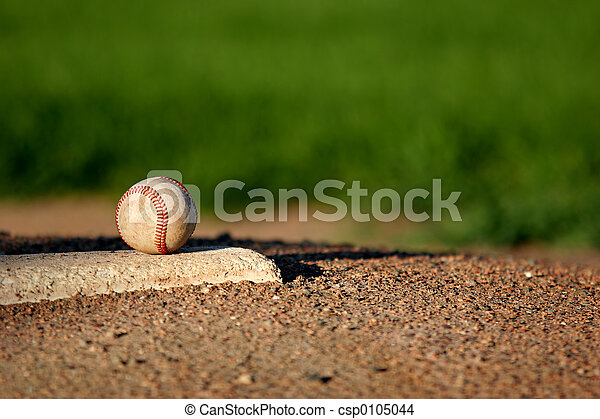 baseball on pitchers mound - csp0105044