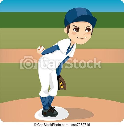Baseball Pitcher - csp7082716