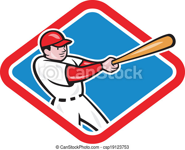 baseball player batting cartoon illustration of a baseball rh canstockphoto com baseball graphics free baseball graphics rear window