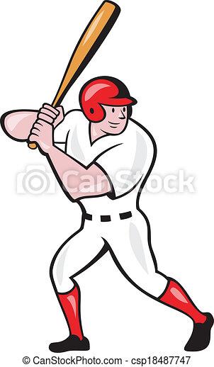 baseball player batting side isolated cartoon illustration eps rh canstockphoto com cartoon baseball player images cartoon baseball player