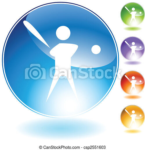 Baseball Player Icon - csp2551603