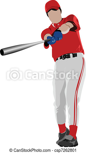 Baseball player. Vector illustrati - csp7262801
