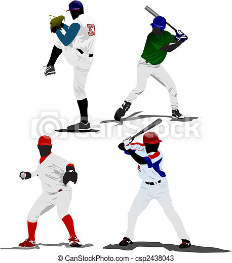 Baseball player. Vector illustration - csp2438043