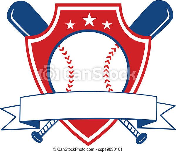 Baseball Shield Banner - csp19830101