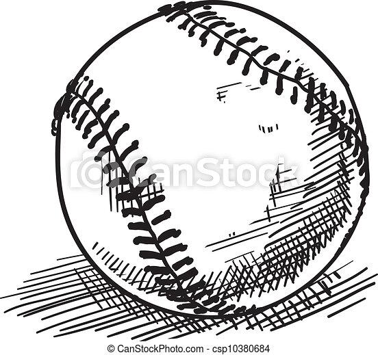 baseball sketch doodle style baseball sports vector illustration rh canstockphoto com baseball vector art clipart baseball vector images