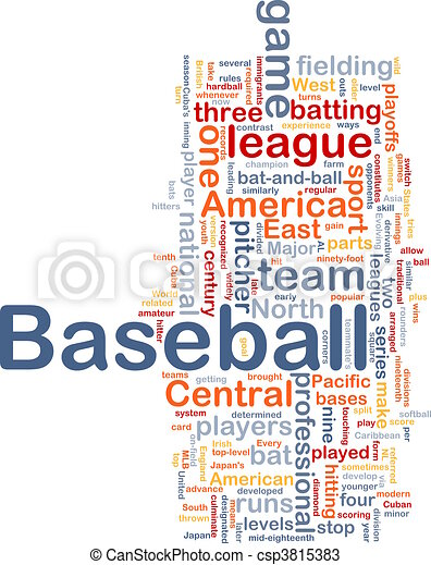 Baseball sports background concept - csp3815383