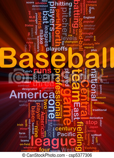 Baseball sports background concept glowing - csp5377306