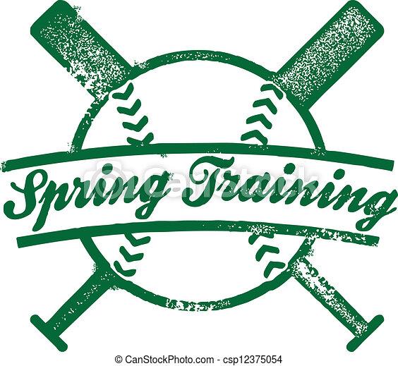 Baseball Spring Training Stamp - csp12375054