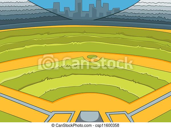 baseball stadium vector cartoon background eps 10 clipart vector rh canstockphoto com Stadium Clip Art Stadium Clip Art