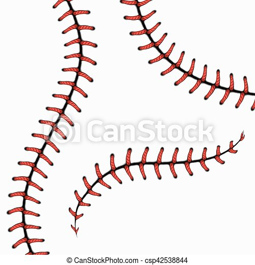 baseball stitches softball laces isolated on white vector eps rh canstockphoto com Baseball Stitches Template Red Baseball Stitching