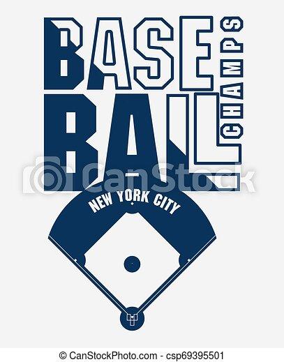 Baseball T Shirt Print Fashion Typography Stamp Vector Baseball Fashion Typography Stamp Graphics New York Sport T Shirt