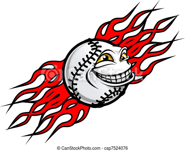 baseball tattoo flying funny baseball ball with fire flames clip rh canstockphoto com baseball player hitting ball clipart baseball ball clipart