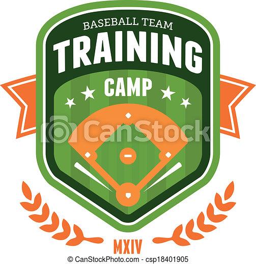 Baseball training camp emblem - csp18401905