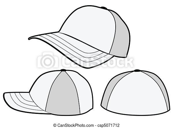 Baseball Template | Baseball Vektor Hut Template Alles Vektor Adjust Isolated