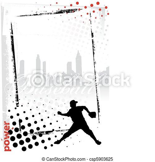 baseball vertical frame - csp5903625
