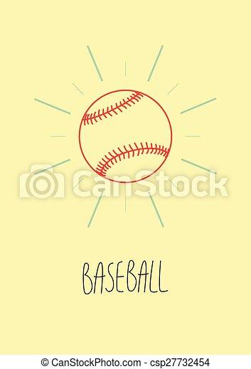 Baseball Vintage Style Poster Retr