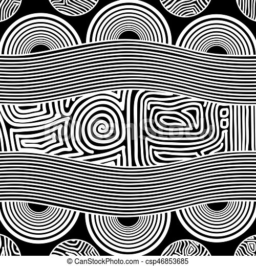 Based on aboriginal style of dot painting. - csp46853685