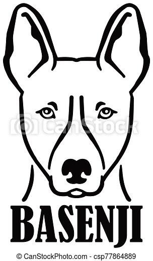 Basenji head with name - csp77864889