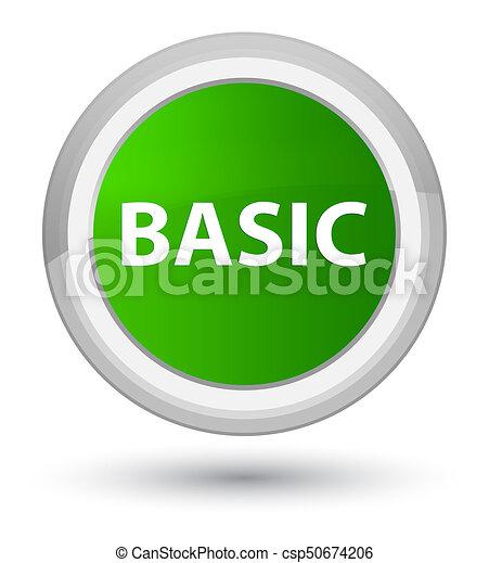 Basic prime green round button - csp50674206