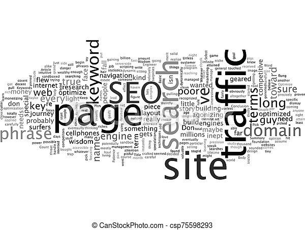 Basic SEO Wisdom text background wordcloud concept - csp75598293
