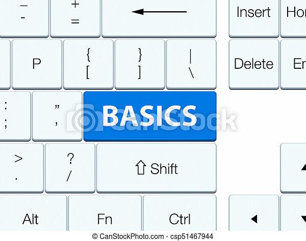 Basics blue keyboard button - csp51467944