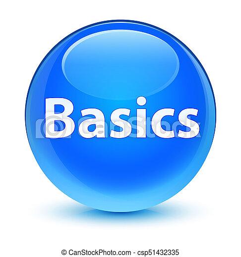Basics glassy cyan blue round button - csp51432335
