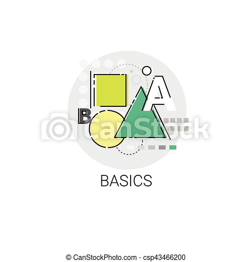 Basics Maths Knowledge Elearning Education Online Icon - csp43466200