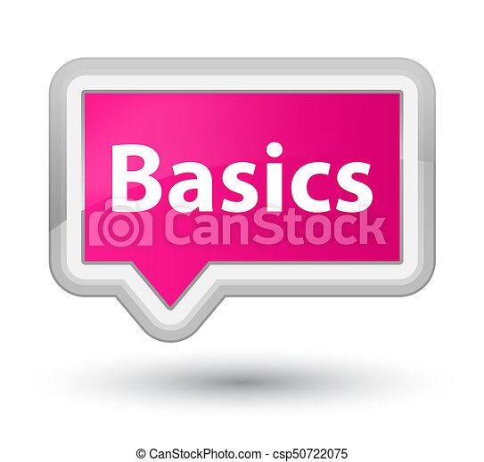 Basics prime pink banner button - csp50722075