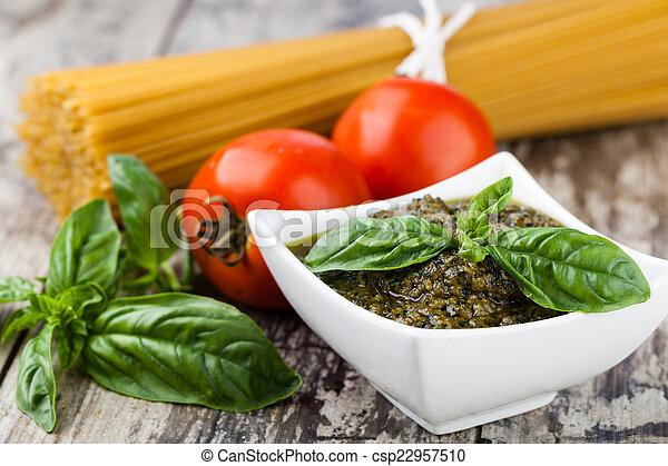 Basil pesto sauce - csp22957510