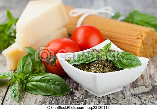 Basil pesto sauce - csp23130118