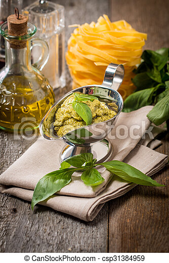 Basil pesto sauce - csp31384959