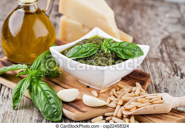 Basil pesto sauce - csp22458324