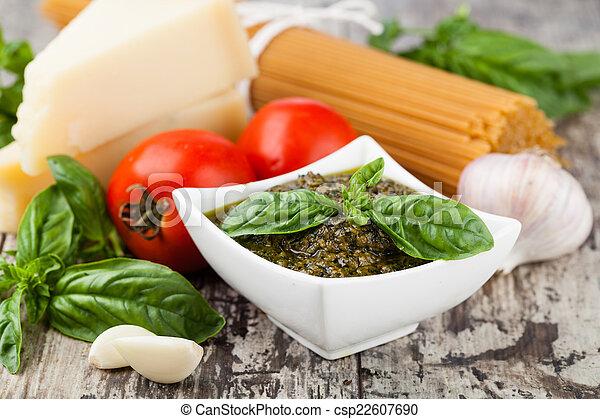 Basil pesto sauce - csp22607690