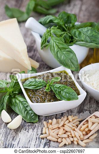 Basil pesto sauce - csp22607697